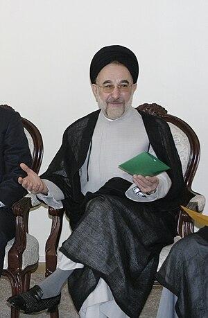 English: Mohammad Khatami former Iranian president