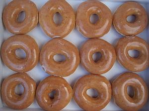Krispy Kreme glazed donuts.