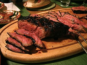 A photo of London broil.