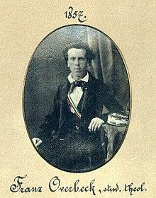 Franz Overbeck während seiner Studienzeit in Göttingen, Bild: wikipedia