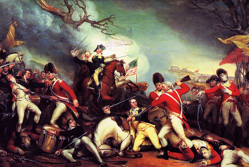 The Death of General Mercer at the Battle of Princeton, by John Trumbull (circa 1795) via Wikipedia