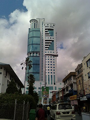 English: The Sanyan Tower in Sibu, Sarawak.