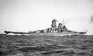 Imperial Japanese Navy's battle ship, Yamato r...