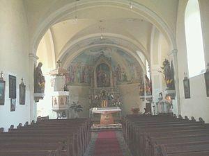 Inside of the Roman Catholic Church in Újkér