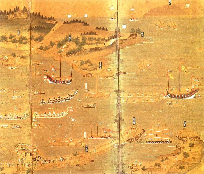 The port of Naha.