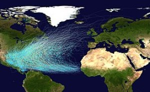 Tracks of all known Atlantic tropical cyclones...