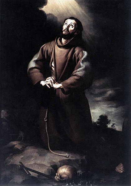 Archivo:Bartolomé Esteban Murillo - St Francis of Assisi at Prayer.JPG