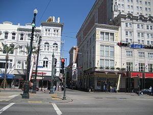 Canal Street New Orleans. The upper end of Bou...