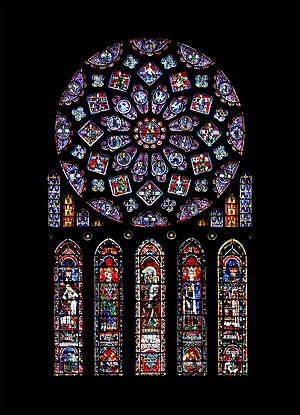 The North Transept windows from Chartres Cathedral