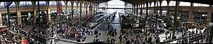 Gare du Nord, Paris Panoramamontage