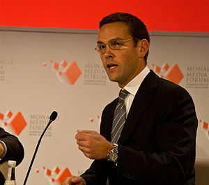 English: James Murdoch in 2008