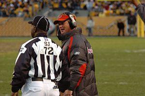 Jon Gruden at Heinz Field in Pittsburgh.