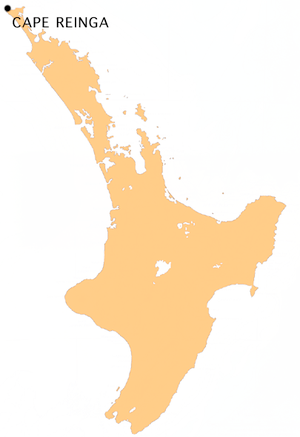 Location map of Cape Reinga, Far North, Northl...
