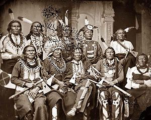 Native American chiefs in 1865. Description gi...