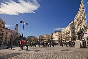 Puerta del Sol (square) in Madrid (Spain).