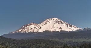 Mt. Shasta California, from the south near Dun...