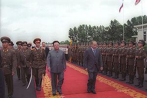 English: PYONGYANG. President Putin with North...