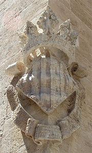 Primer escudo coronado