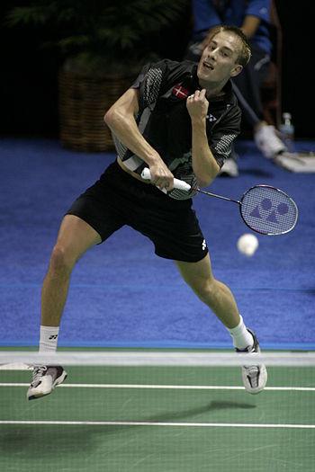 The danish badminton player Peter Gade