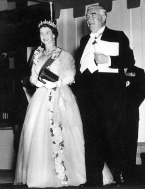 Photograph of Queen Elizabeth II with Prime Mi...