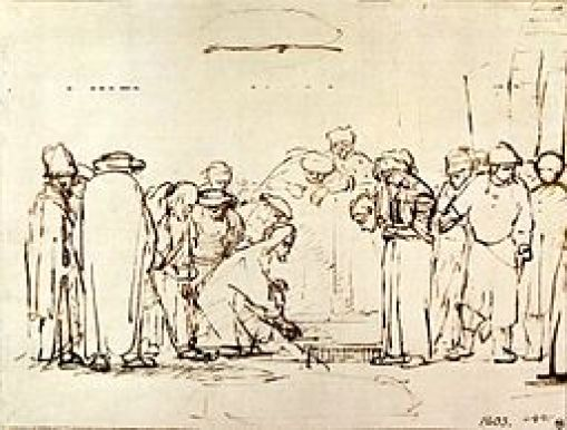 """""""The Woman Taken in Adultery"""" byRembrandt"""
