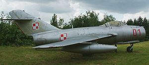 The MiG-15, which bears a superficial resembla...