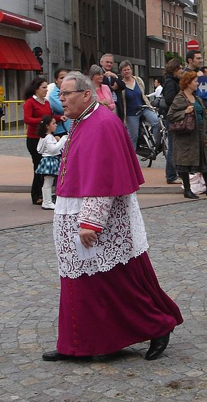 The former Bishop of Brugge in Choir dress