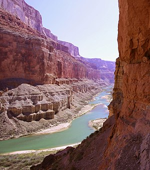 English: The Colorado River near Nankoweap Cre...