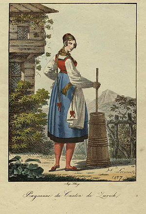 Farmer's wife from the canton of Zurich in the...