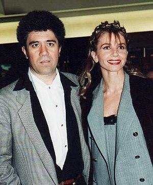 Français : Pedro Almodovar et Victoria Abril à...
