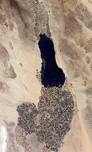 The Imperial Valley below the Salton Sea. The ...