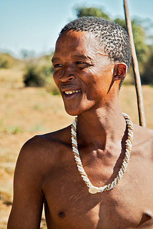 A San (Bushman). Probably the most indigenous people in southern Africa.