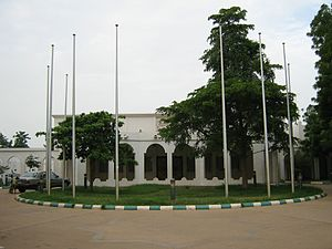 Entrance to the modern Sultan's palace in Sokoto