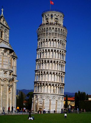 English: A Classical View of Leaning Tower in Pisa