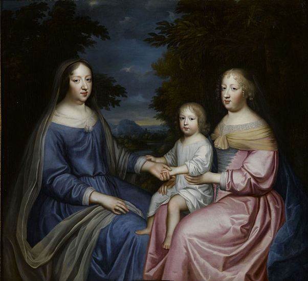 File:Anne of Austria with the Dauphin and Queen Marie Thérèse.jpg