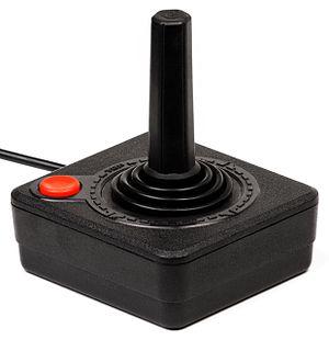 A joystick controller for the Atari 2600 video...