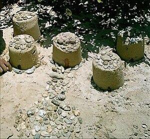 English: Sandcastle Español: Castillo de arena