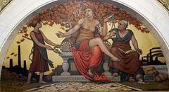 Corrupt Legislation. Mural by Elihu Vedder. Lo...