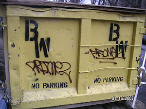 I made it, its yours. Dumpster with spray pain...