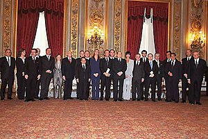 English: The Ministers of Berlusconi IV Cabine...