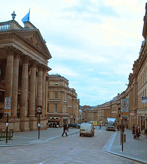 Grey Street, Newcastle upon Tyne. Image lighte...