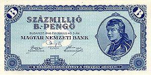 HUP 100 million B - reverse 1946