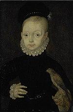 Ritratto del principe Giacomo (opera di Arnold Bronckorst), futuro Giacomo VI di Scozia e Giacomo I d'Inghilterra.