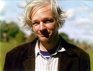 "English: Julian Assange, photo (""sunny co..."