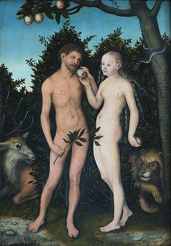 Lucas Cranach the Elder (1472-1553): Adam and ...
