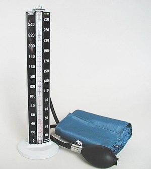 Mercury manometer.