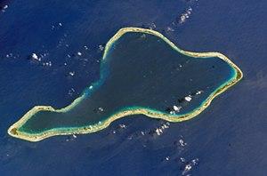 NASA astronaut image of Mururoa Atoll (Tuamotu...