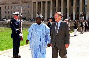 Secretary of Defense Donald H. Rumsfeld (right...