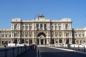 Italiano: Palazzo di Giustizia di Roma, Corte ...