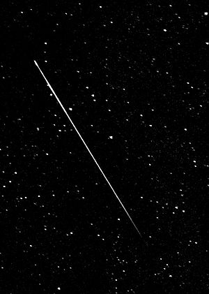 A crop and enhacement of a Perseid Meteor I ca...